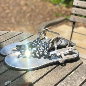 Vince Camuto Crystal silver sandals